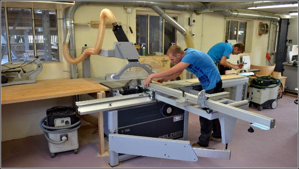 Deelnemers houtbewerken Euroskills 2014