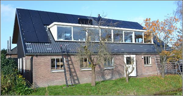Werkplaats van meubelmakerij De Schrijn op zonnekracht op zonnekracht