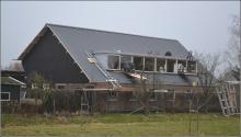 Dakplaten en dakkapel geplaatst
