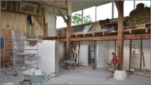 Tweede fase verbouwing werkplaats van start